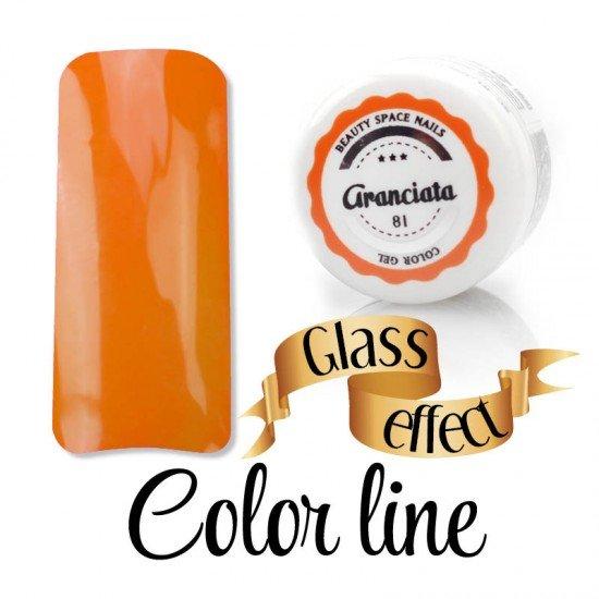 81 - Aranciata - Glass Effect - Colored Uv gel - Color line - 5ml