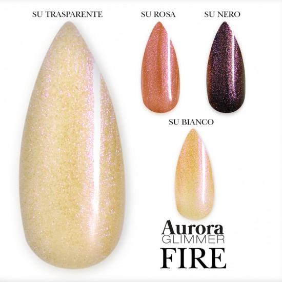 Aurora Glimmer FIRE 15 ml - Gel sigillante senza dispersione uv/led - 15 ml