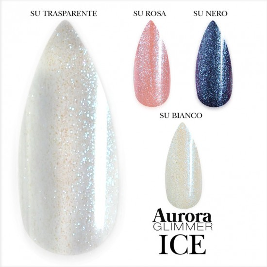 Aurora Glimmer ICE 15 ml - Gel sigillante senza dispersione uv/led - 15 ml